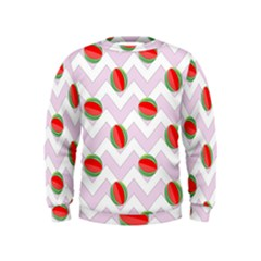 Watermelon Chevron Kids  Sweatshirt