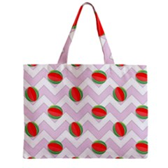 Watermelon Chevron Zipper Mini Tote Bag