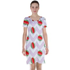 Watermelon Chevron Short Sleeve Nightdress