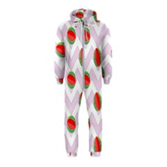Watermelon Chevron Hooded Jumpsuit (Kids)