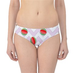 Watermelon Chevron Hipster Bikini Bottoms
