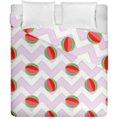 Watermelon Chevron Duvet Cover Double Side (California King Size)