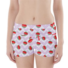 Watermelon Chevron Boyleg Bikini Wrap Bottoms
