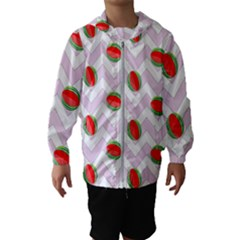Watermelon Chevron Hooded Windbreaker (Kids)