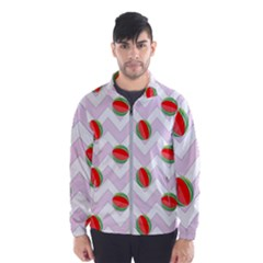 Watermelon Chevron Windbreaker (Men)