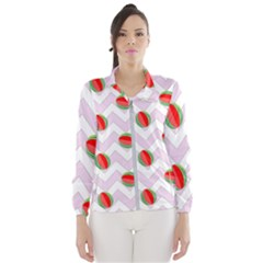 Watermelon Chevron Windbreaker (Women)
