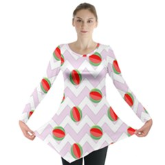 Watermelon Chevron Long Sleeve Tunic