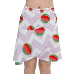 Watermelon Chevron Chiffon Wrap
