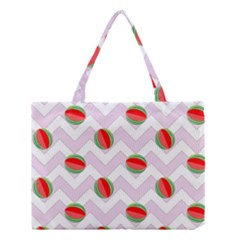 Watermelon Chevron Medium Tote Bag