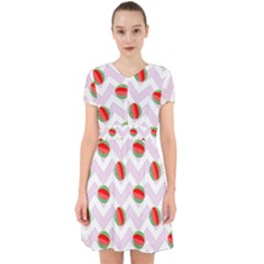 Watermelon Chevron Adorable in Chiffon Dress