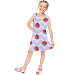 Watermelon Chevron Kids  Tunic Dress