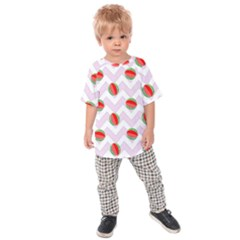 Watermelon Chevron Kids Raglan Tee