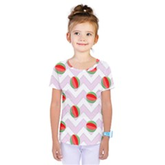 Watermelon Chevron Kids  One Piece Tee
