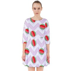Watermelon Chevron Smock Dress