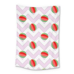 Watermelon Chevron Small Tapestry