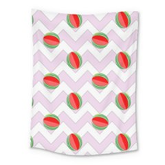 Watermelon Chevron Medium Tapestry