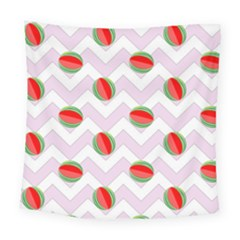 Watermelon Chevron Square Tapestry (Large)