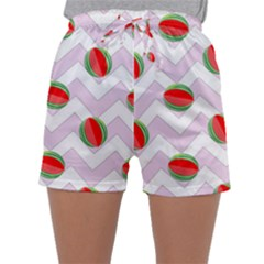 Watermelon Chevron Sleepwear Shorts