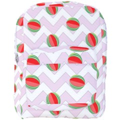 Watermelon Chevron Full Print Backpack