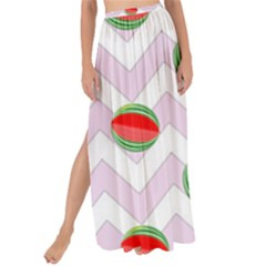 Watermelon Chevron Maxi Chiffon Tie-Up Sarong