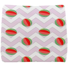 Watermelon Chevron Seat Cushion