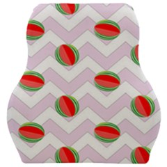 Watermelon Chevron Car Seat Velour Cushion