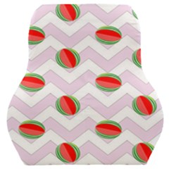 Watermelon Chevron Car Seat Back Cushion