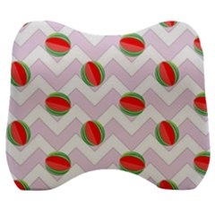 Watermelon Chevron Velour Head Support Cushion