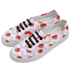 Watermelon Chevron Women s Classic Low Top Sneakers