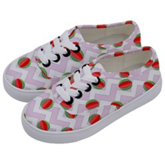 Watermelon Chevron Kids  Classic Low Top Sneakers