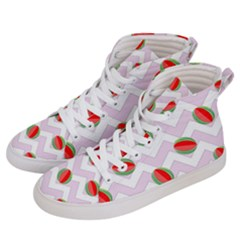Watermelon Chevron Men s Hi-Top Skate Sneakers