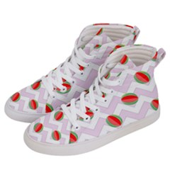 Watermelon Chevron Women s Hi-Top Skate Sneakers