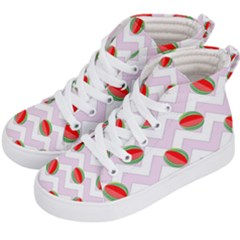 Watermelon Chevron Kid s Hi-Top Skate Sneakers