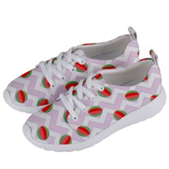 Watermelon Chevron Women s Lightweight Sports Shoes