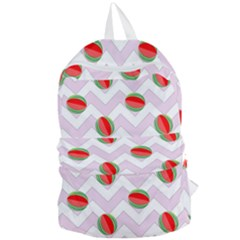 Watermelon Chevron Foldable Lightweight Backpack