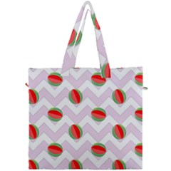 Watermelon Chevron Canvas Travel Bag