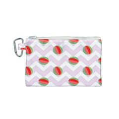 Watermelon Chevron Canvas Cosmetic Bag (Small)