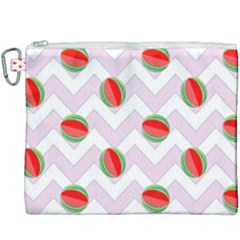 Watermelon Chevron Canvas Cosmetic Bag (XXXL)