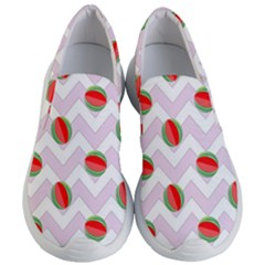 Watermelon Chevron Women s Lightweight Slip Ons
