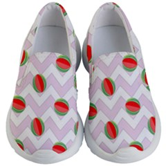 Watermelon Chevron Kid s Lightweight Slip Ons