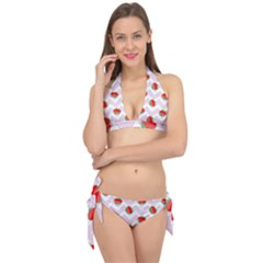 Watermelon Chevron Tie It Up Bikini Set