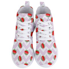 Watermelon Chevron Women s Lightweight High Top Sneakers