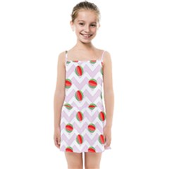 Watermelon Chevron Kids Summer Sun Dress