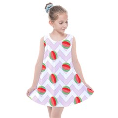Watermelon Chevron Kids  Summer Dress