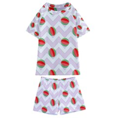 Watermelon Chevron Kids  Swim Tee and Shorts Set