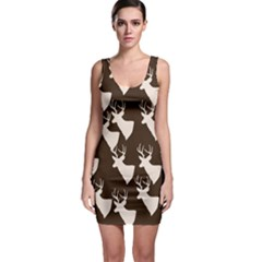Brown Deer Pattern Bodycon Dress by snowwhitegirl