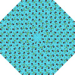 School Girl Pattern Blue Folding Umbrellas
