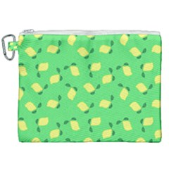Lemons Green Canvas Cosmetic Bag (xxl) by snowwhitegirl