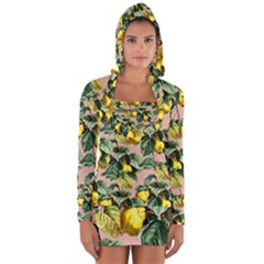 Fruit Branches Long Sleeve Hooded T Shirt