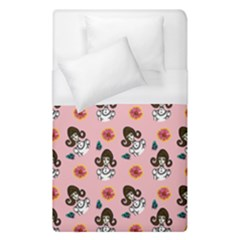 Girl With Dress  Pink Duvet Cover (single Size) by snowwhitegirl